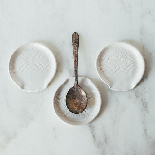 Handmade Studio TN: Lace Spoon Rests