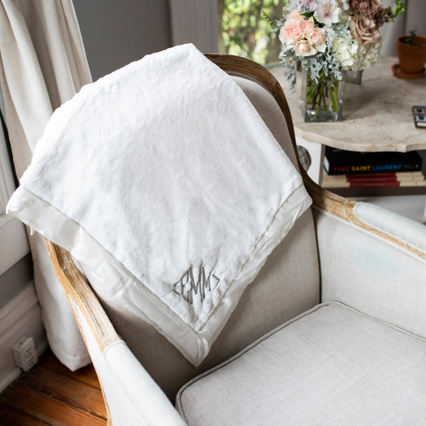South of Hampton: Monogrammed Baby Blanket