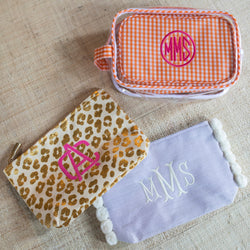 South of Hampton: Leopard Cosmetic Bag