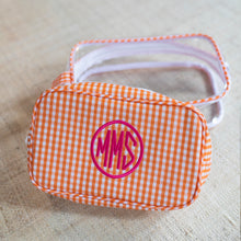 South of Hampton: Clear Gingham Travel Case Duo