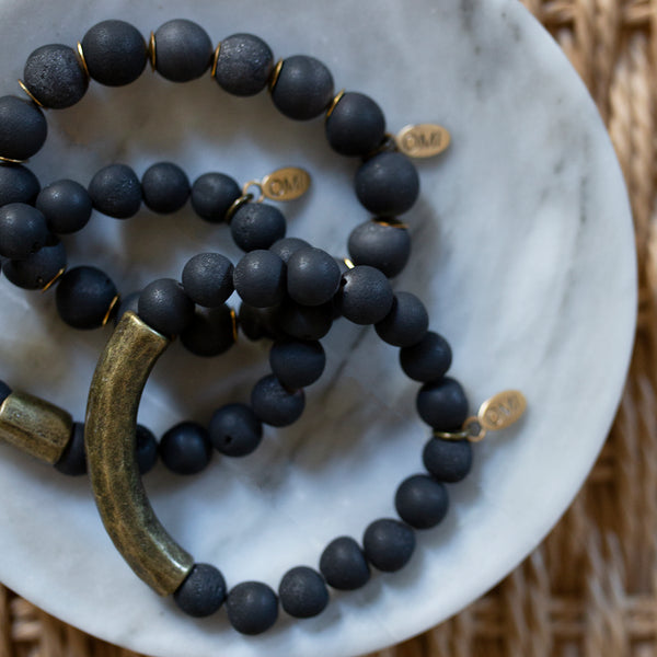 SB + OMI Beads: Classic Matte Black Trio Set - SB Shop