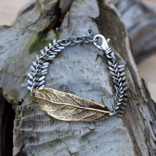 Amy Wells Designs: Antiqued Gold Leaf Bracelet