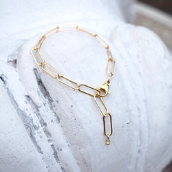 Amy Wells Designs: Paper Clip Chain Bracelet
