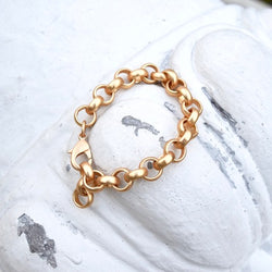 Amy Wells Designs: Chunky Matte Gold Chain Bracelet