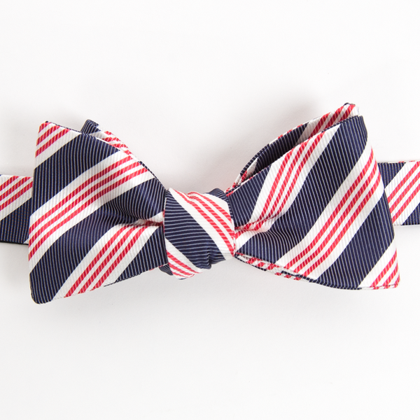 Collared Greens: Men's Bow Tie (Homestead Red and Blue)
