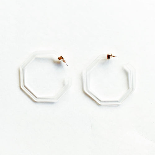 Hunter Blake Designs: The Hex Hoop Earring