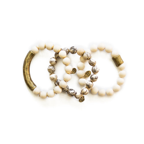 SB + OMI Beads: Cream Trio