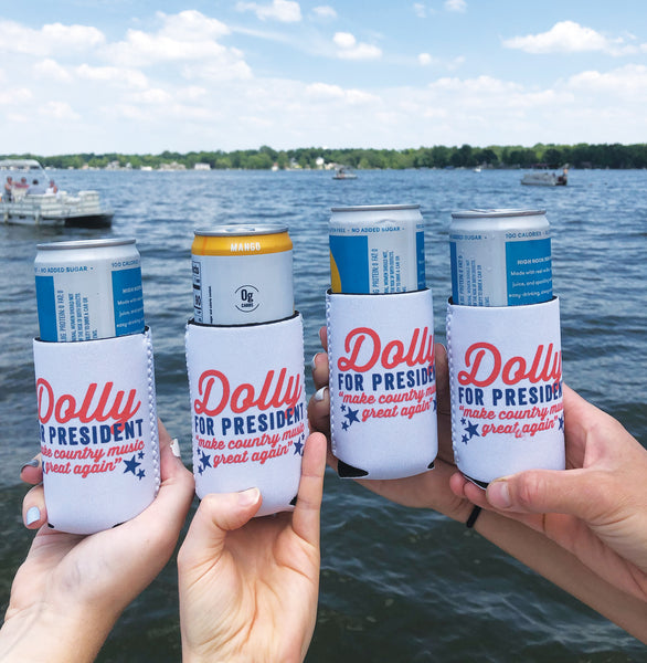 Southern Fried Design Barn: Dolly For President Coozie