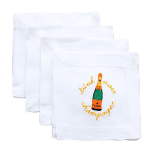 Lettermade: Drink More Champagne Cocktail Napkin - SB Shop
