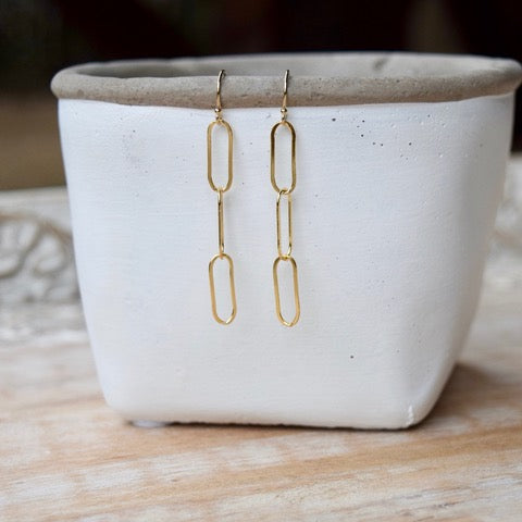 Amy Wells Designs: Paper Clip Chain Earrings