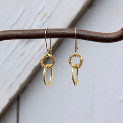 Amy Wells Designs: Hammered Circles of Gold Earrings