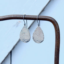 Amy Wells Designs: Hammered Matte Teardrop Earrings