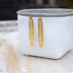 Amy Wells Designs: Organic Matte Gold Hammered Dot Earrings