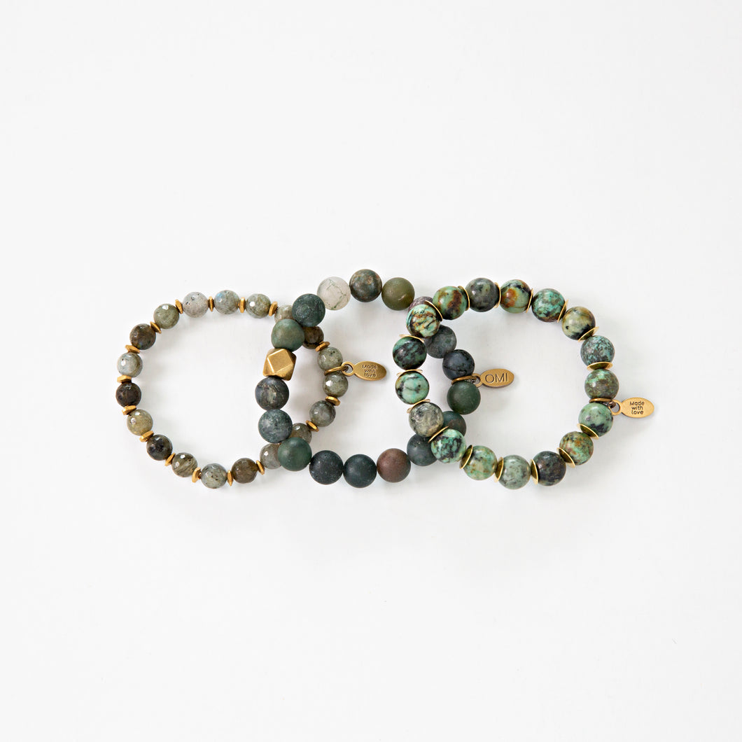 SB + OMI Beads: Green Matte Set