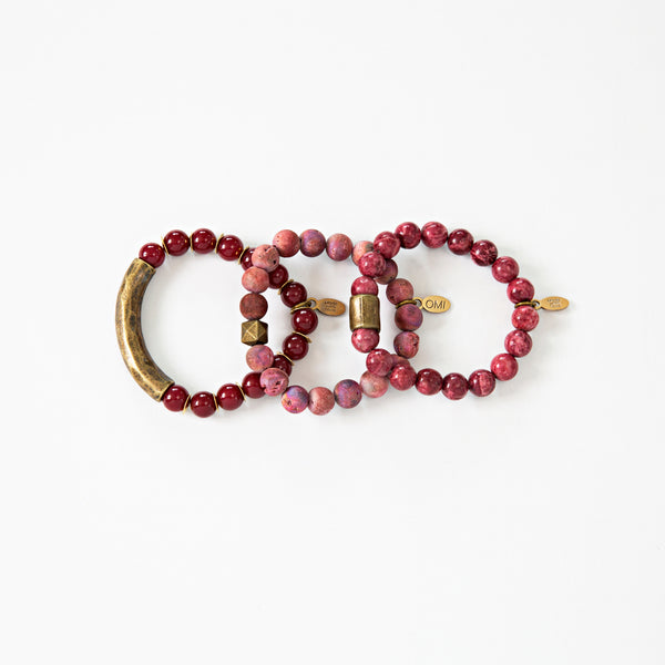 SB + OMI Beads: Burgundy Set