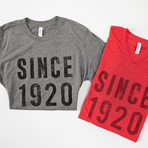 SINCE 1920 V-Neck Tee - SB Shop