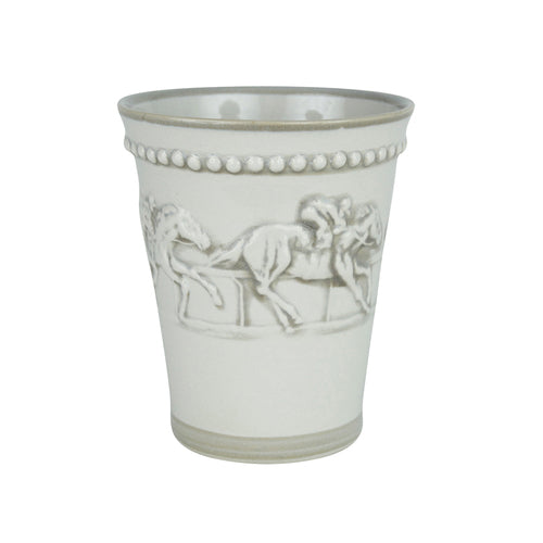 Stoneware and Co.: Julep Cup in Embossed Running Horse