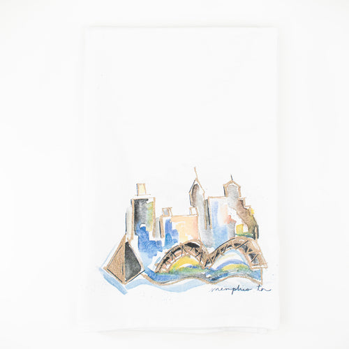 Erika Roberts Studio: Memphis Watercolor Tea Towel
