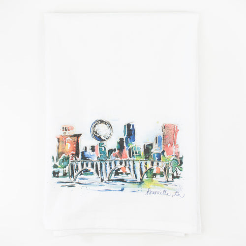 Erika Roberts Studio: Knoxville Watercolor Tea Towel - SB Shop