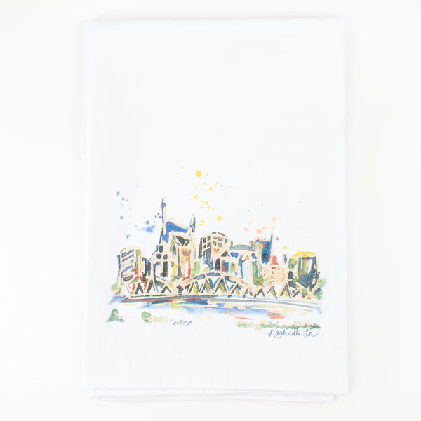 Erika Roberts Studio: Nashville Watercolor Tea Towel - SB Shop