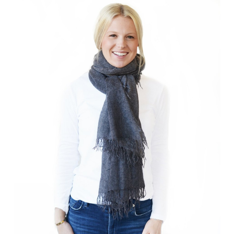 Turkish-T: Cashmere Scarf with Fringe - SB Shop