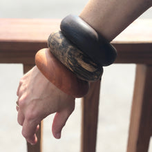 Prickly Dame: Black Walnut Wooden Bangle