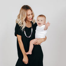 January Moon: Teething Necklace (Pewter)