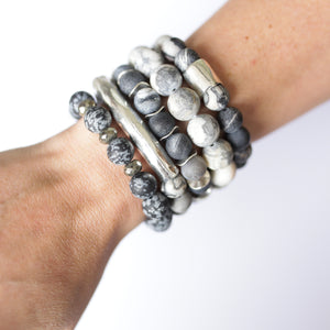 SB + OMI Beads: The Grey Marble Set