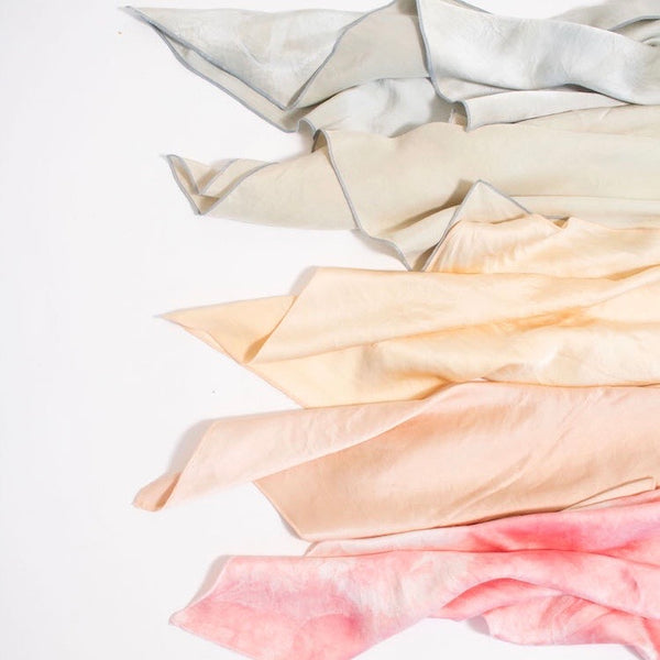 Natalie Busby: Natural-Dye Silk Bandana - SB Shop