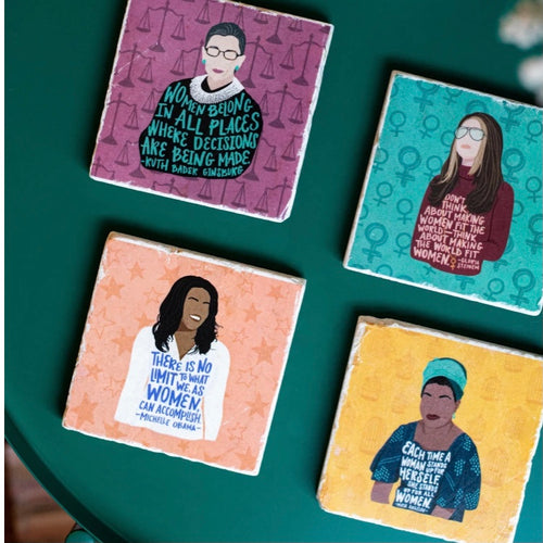 ARCHd: Feminist Marble Coasters