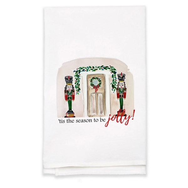 Erika Roberts Studio: Holly Jolly Tea Towel