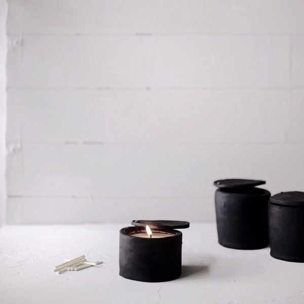 Civil Stoneware: Lavender Candle