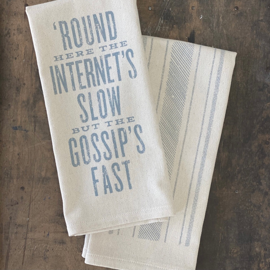 Southern Fried Design Barn: Round Here the Internets Slow Kitchen Towel