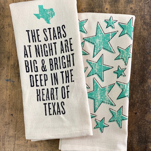 Southern Fried Design Barn: Stars Are Big & Bright Kitchen Towel