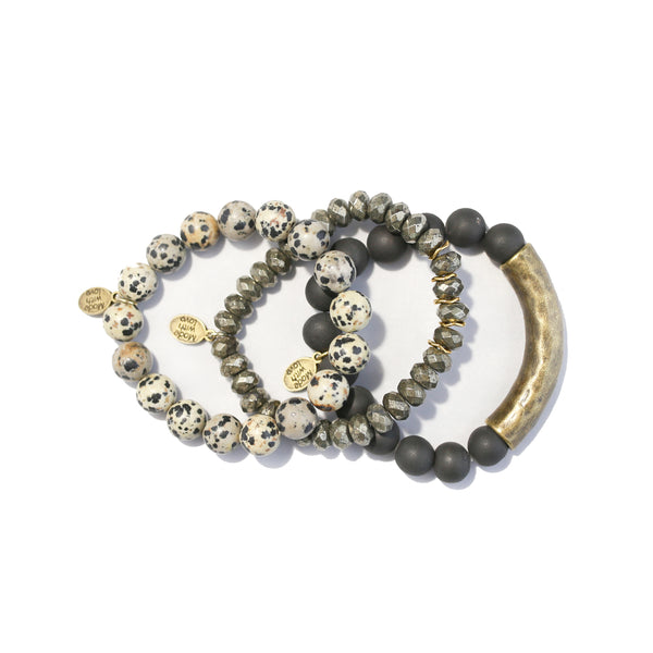 SB + OMI Beads: Black & Gold Set