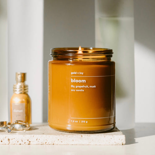 gold + ivy: bloom candle