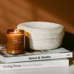 gold + ivy: indigo candle