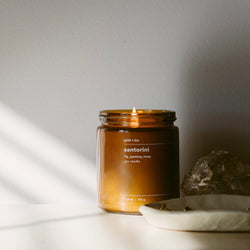 gold + ivy: santorini candle