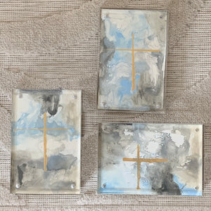 Carrie Pittman Art: Acrylic Framed Crosses