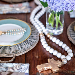 The Sercy Studio: Long White Blessing Beads