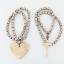 The Sercy Studio: Long Gray Blessing Beads