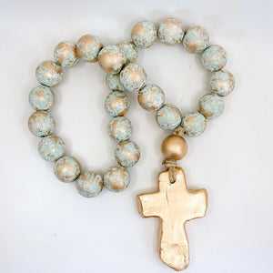 The Sercy Studio: Big Teal Blessing Beads