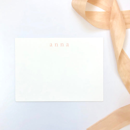 Darby Cards: Custom Lowercase Stationery
