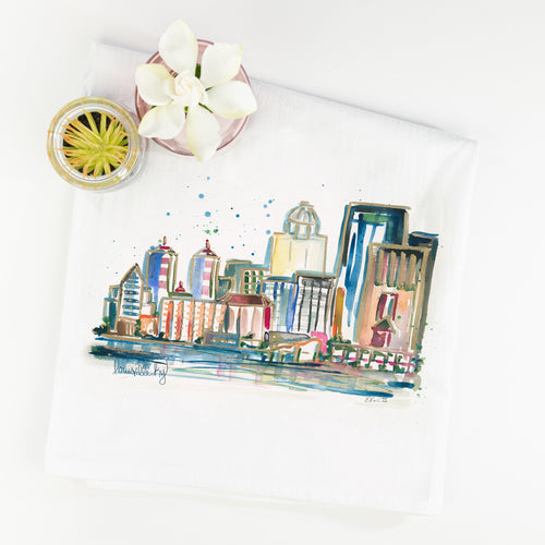 Erika Roberts Studio: Louisville Watercolor Tea Towel - SB Shop