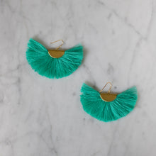 Hearne Dry Goods: Fan Tassel Earrings in Turquoise
