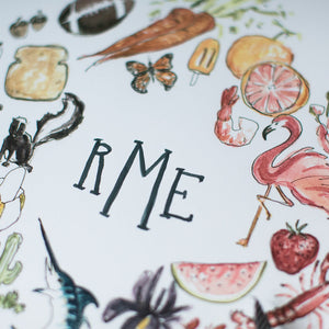 COLOR Print with Monogram