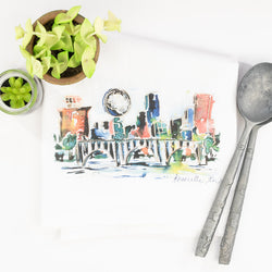 Erika Roberts Studio: Knoxville Watercolor Tea Towel