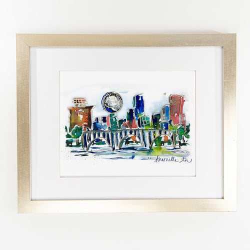 Erika Roberts Studio: Knoxville Watercolor Fine Art Print
