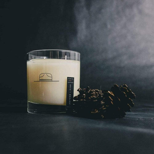 Ranger Station: Leather + Pine Candle