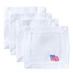 Lettermade: American Flag Cocktail Napkin - SB Shop
